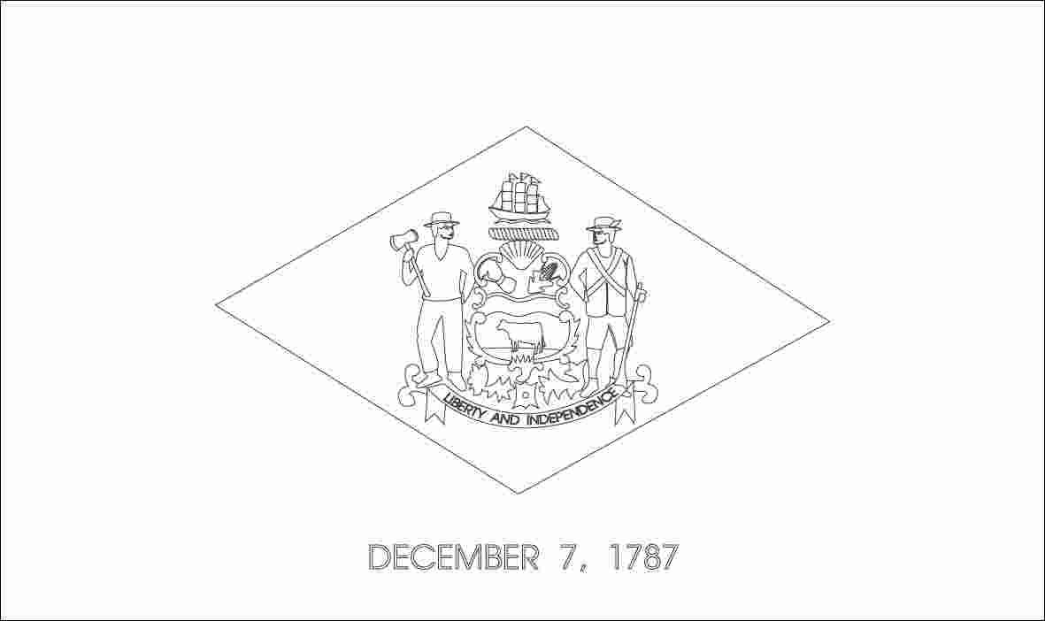 Coloring Pages Delaware State Flag Coloring Pages New 52