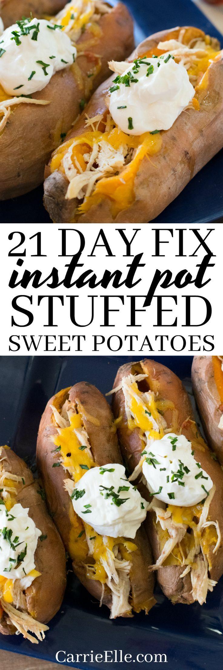 21 Day Fix Instant Pot Sweet Potatoes