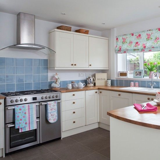 Lovely Cream And Floral Country Kitchen Where Simple Units