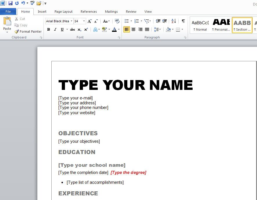 40 Free Resume Builder Microsoft Word Wy5x di 2020
