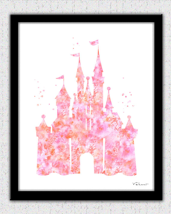 Amazing Castle Printable Art Coral Pink Castle Instant Download Download Free Architecture Designs Scobabritishbridgeorg