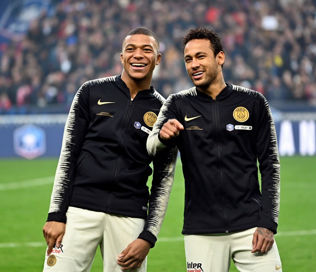 kylian mbappe and neymar of paris saint
