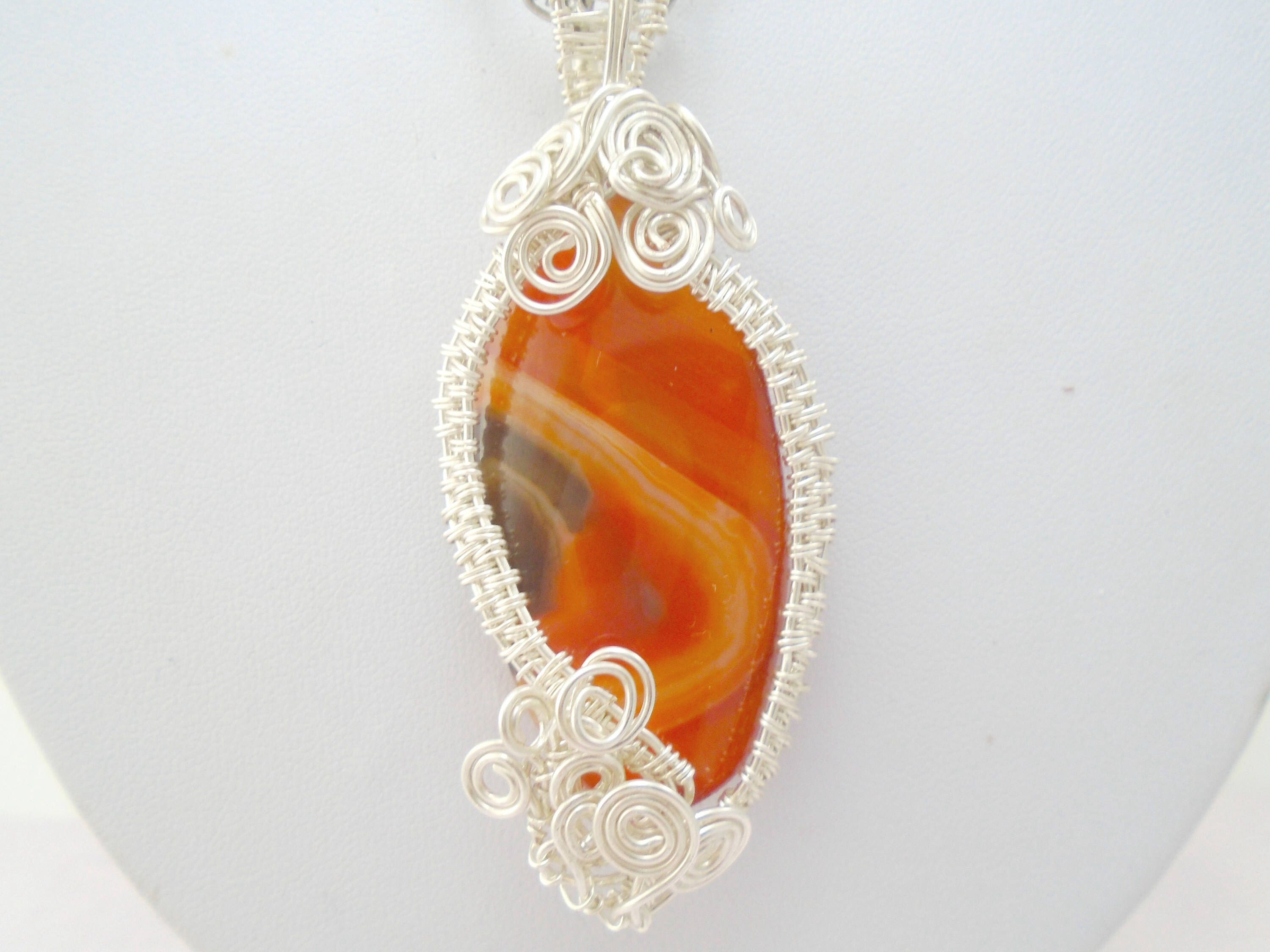 Carnelian necklace carnelian pendant carnelian jewelry gemstone carnelian necklace carnelian pendant carnelian jewelry gemstone necklace gemstone pendant wire mozeypictures Gallery