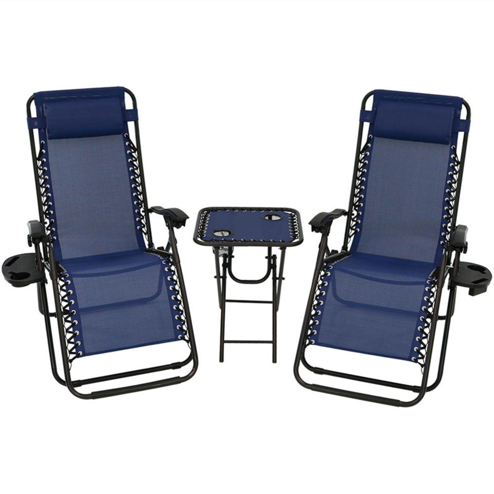 Superb Outdoor Sunnydaze Decor 3 Piece Zero Gravity Reclining Uwap Interior Chair Design Uwaporg