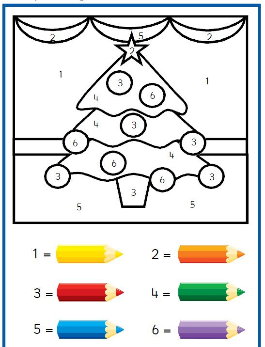 Colour By Number Worksheets Christmas : Christmas stocking colour by numbers 2 winter color