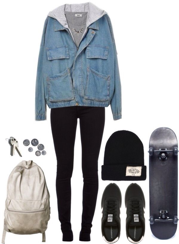 grunge skater girl clothes