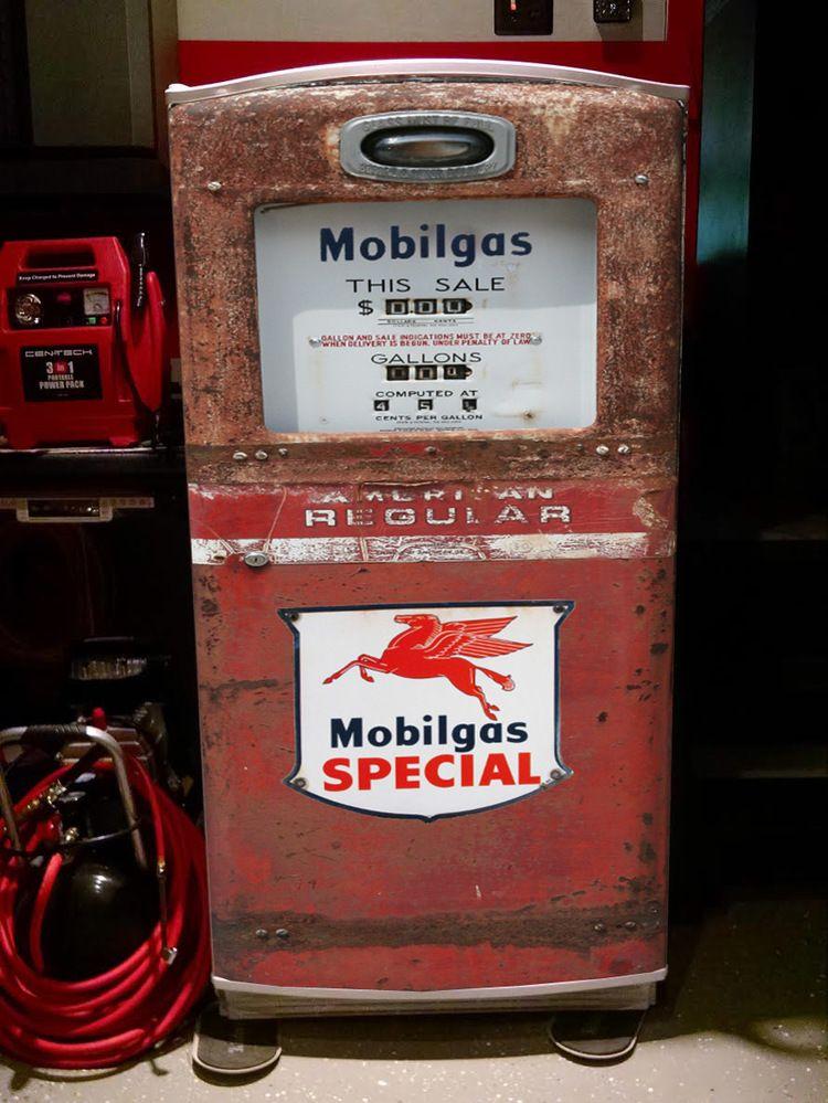 Coca Cola Fridge >> Mobilgas Special red rust Gas pump Refrigerator wrap ...