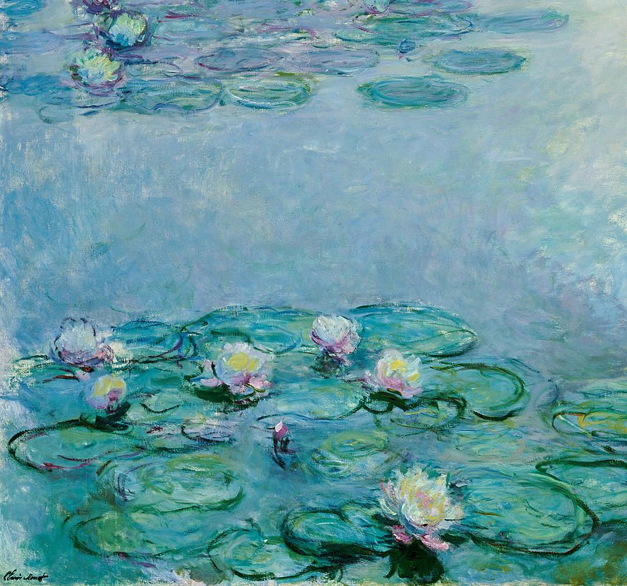 water lilies painting claude monet painting