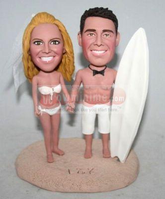 Bikini and Beach cake toppers 10981