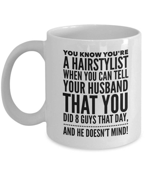 ee0e77ec Hair Stylist Mug | Hairdresser Mug | Hair Stylist Gift | Funny Custom Hairstylist  Gift Birthday | Gi