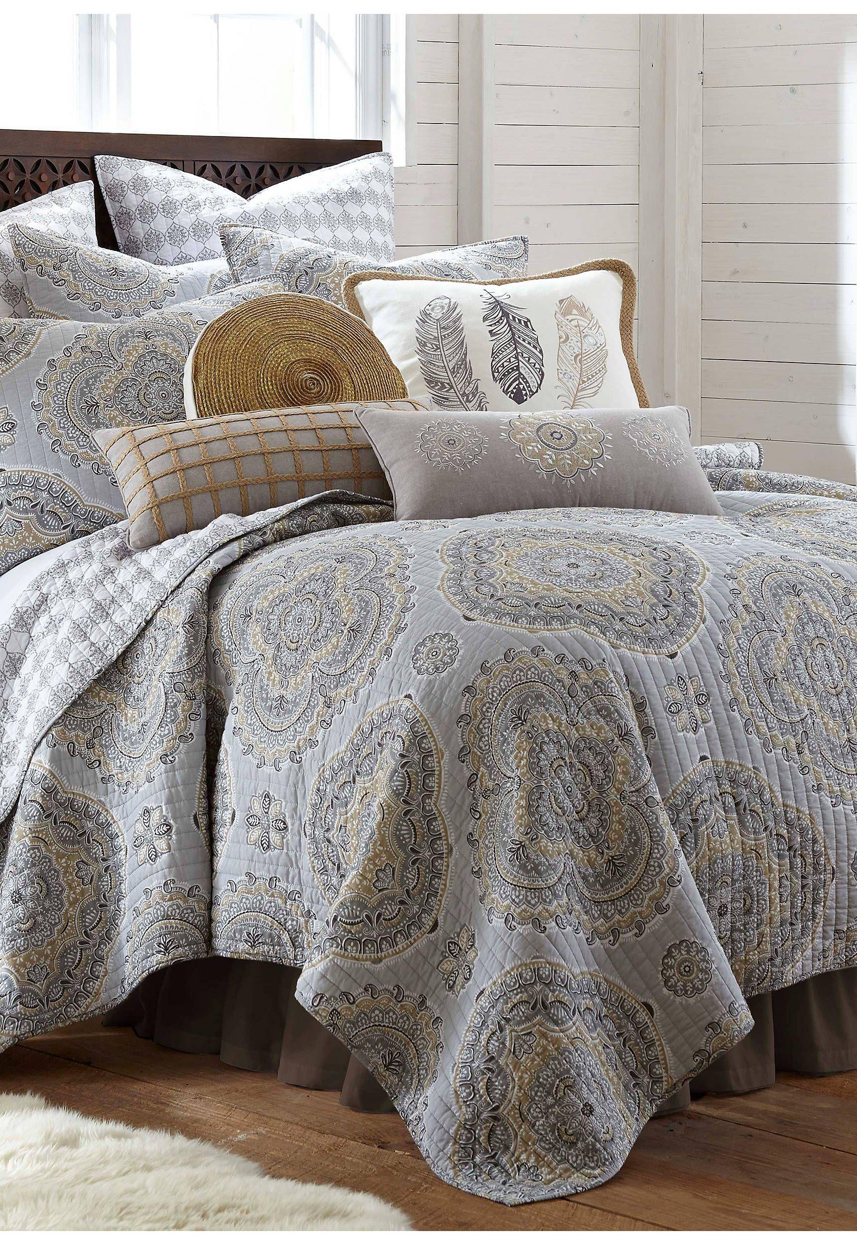 King Bedspreads On Sale.Levtex Zarya Neutral Quilt Set In 2019 Quilt Sets King