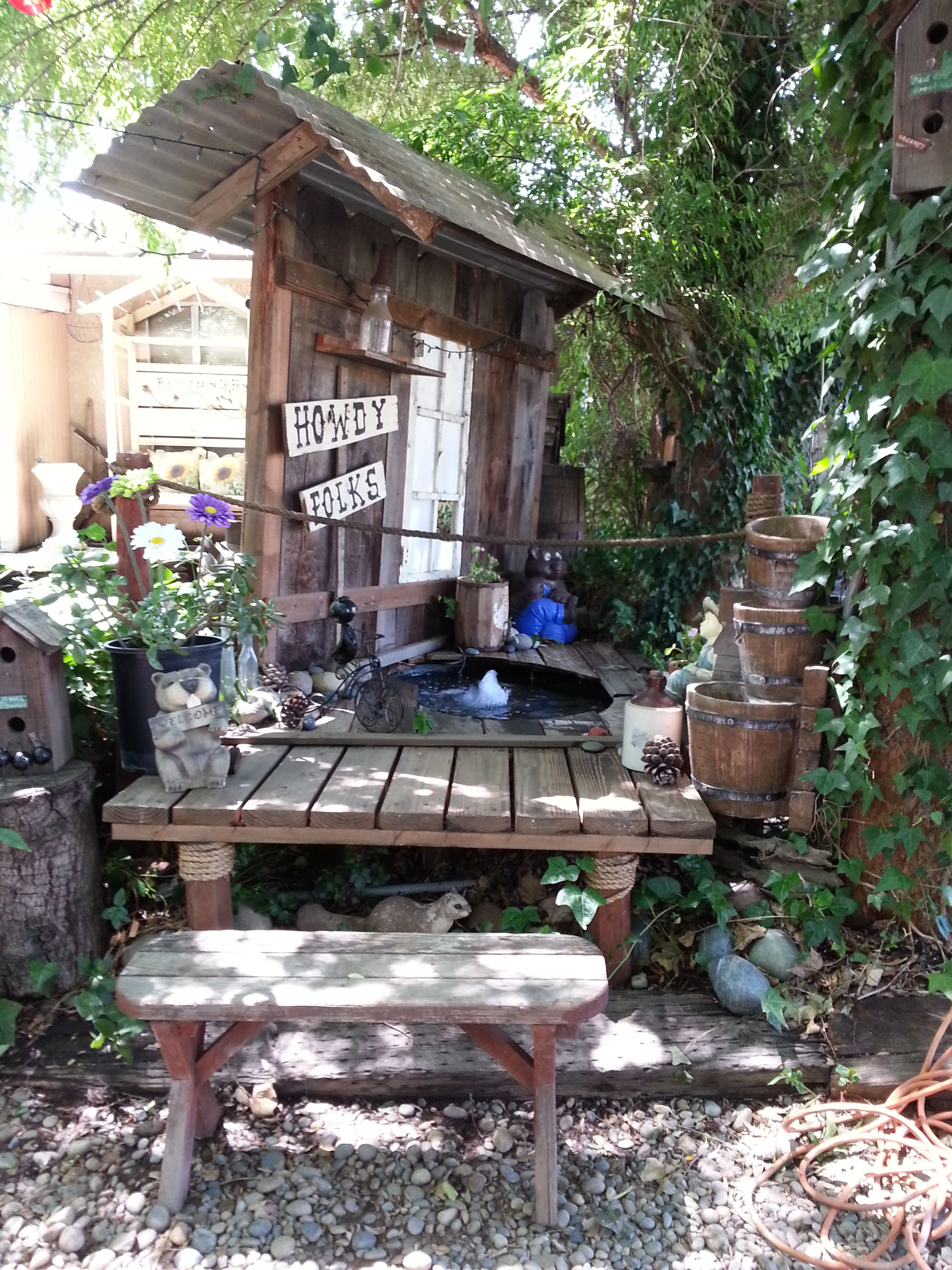 more of backyard old fence wood ideas (With images ... on Backyard Wooden Fence Decorating Ideas id=27423