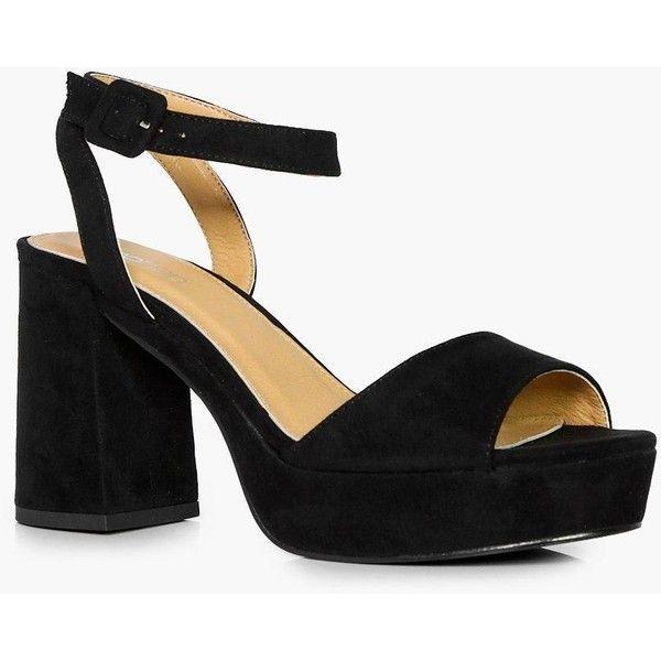Boohoo Ella 2 Part Platform Low Heel