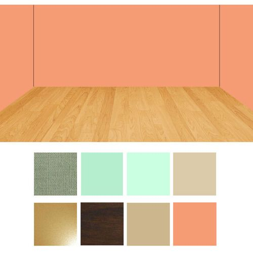 Peach wall room color combination swatches | Room color ...