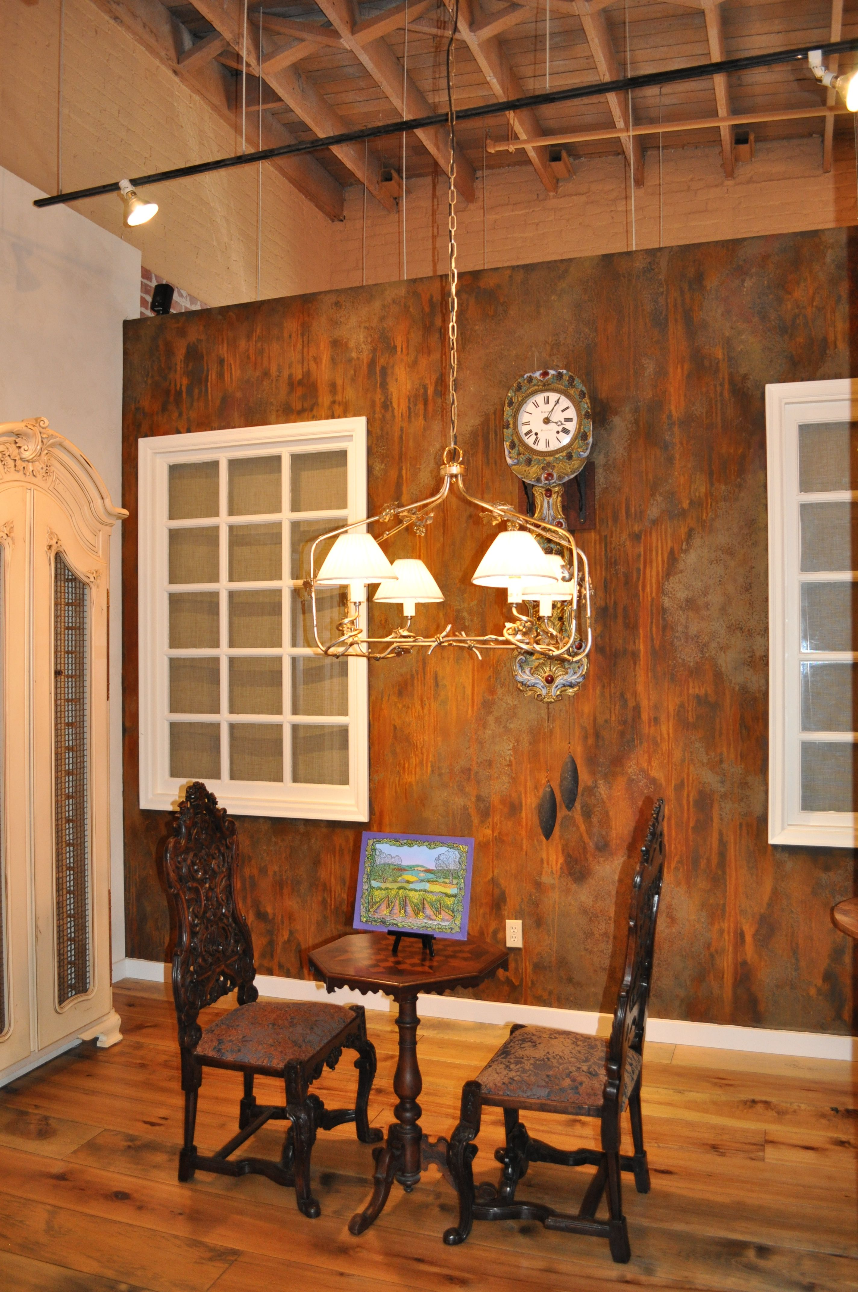 Inspiration this wall was created using Metal Masters Iron Paint and rust activator fabulous