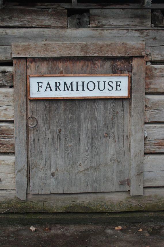 Farmhouse sign. Vintage farmhouse painted sign farmhouse