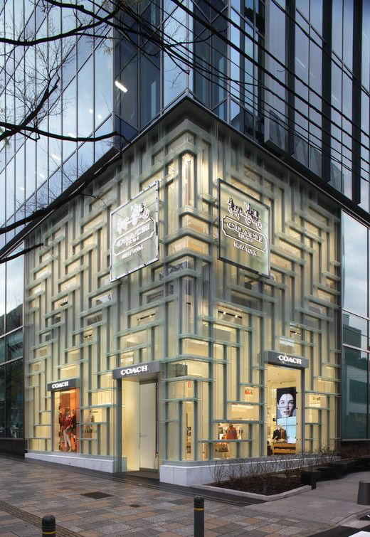 new coach flagship store designed by shohei shigematsu opens at oak omotesando laf com fa ades. Black Bedroom Furniture Sets. Home Design Ideas