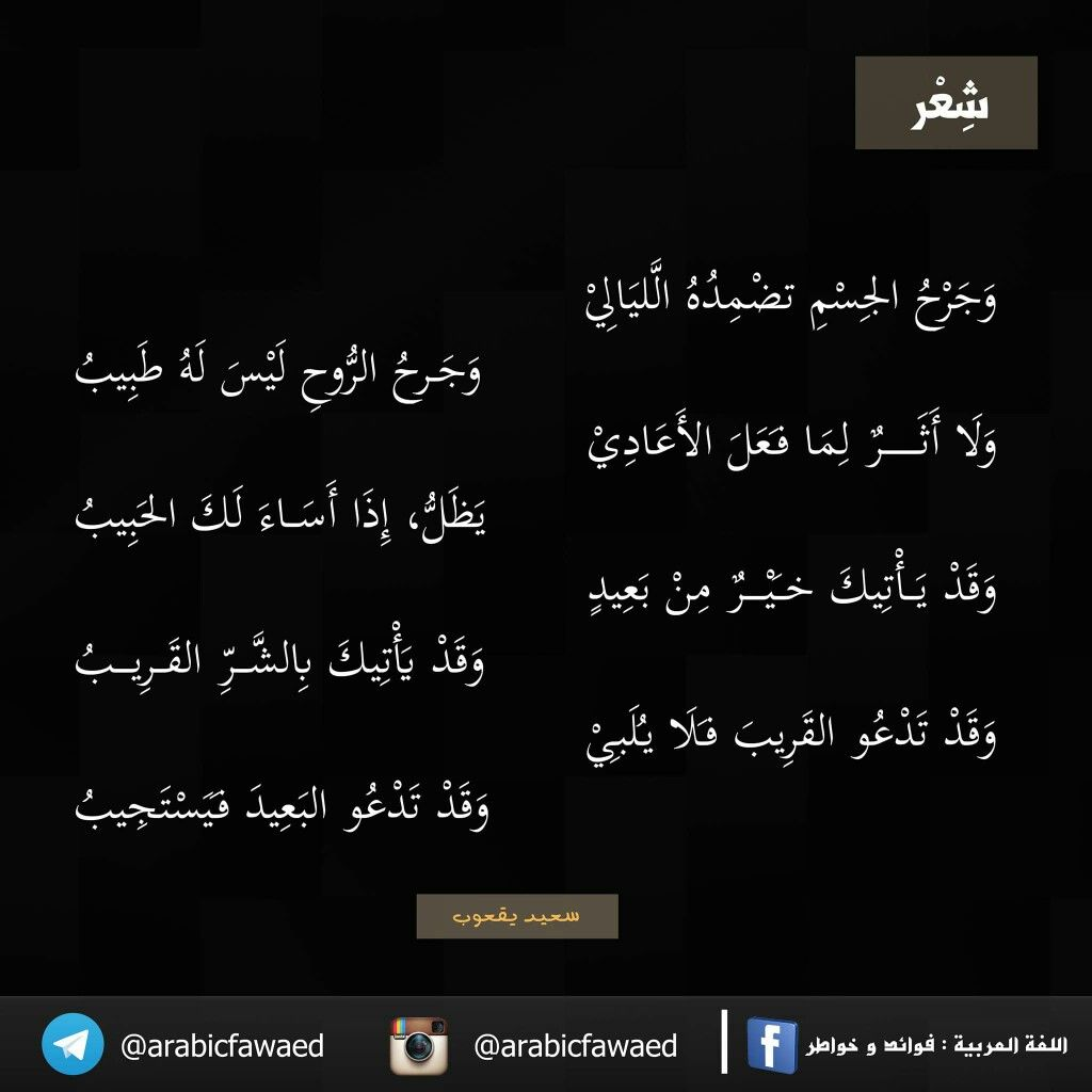 شعر سعيد يعقوب Words Of Wisdom Words Quotes
