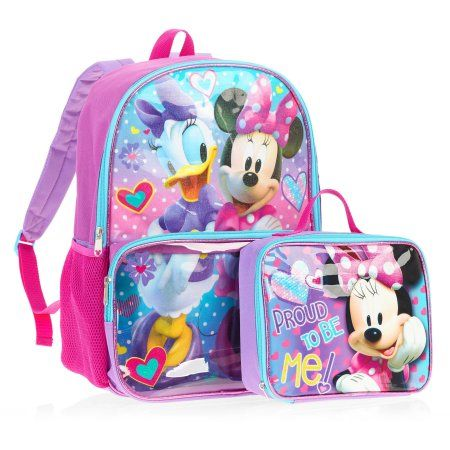 b0fd5fba32 Minnie Backpack With Lunchbox - Walmart.com