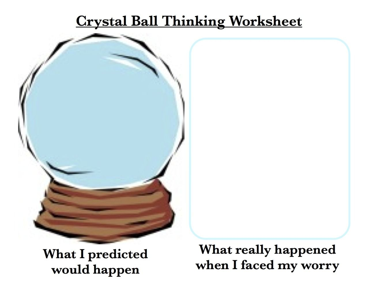 Crystal Ball Thinking Worksheet