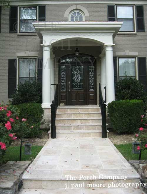 Brick Stoop Home Design Ideas Pictures Remodel And Decor: Porch Roof Styles, Front Porch Design, Front Porch Pictures