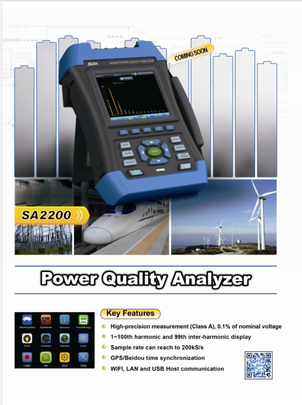 Our New Product Sa2200 Powerqualityanalyzer High Precision Measurement Class A 0 1 Of Nominal Voltage 1 To 100th Harmonic And Spectrum Analyzer Power Gps