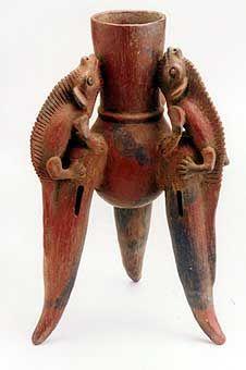 Terracotta Chocolate Pot - PF.4223, Origin: Costa Rica, Cca. 500 - 800 CE, 18.75 in. (47.6cm) high, Collection: Pre-Columbian, Medium: Terracotta.