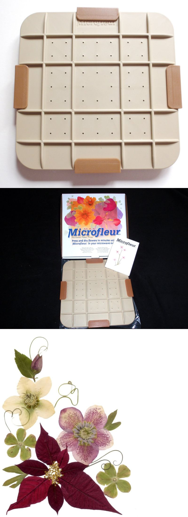Dried Flowers 16493: Microfleur 9 (23 Cm) Microwave Max Flower Press -> BUY IT NOW ONLY: $66.69 on eBay!