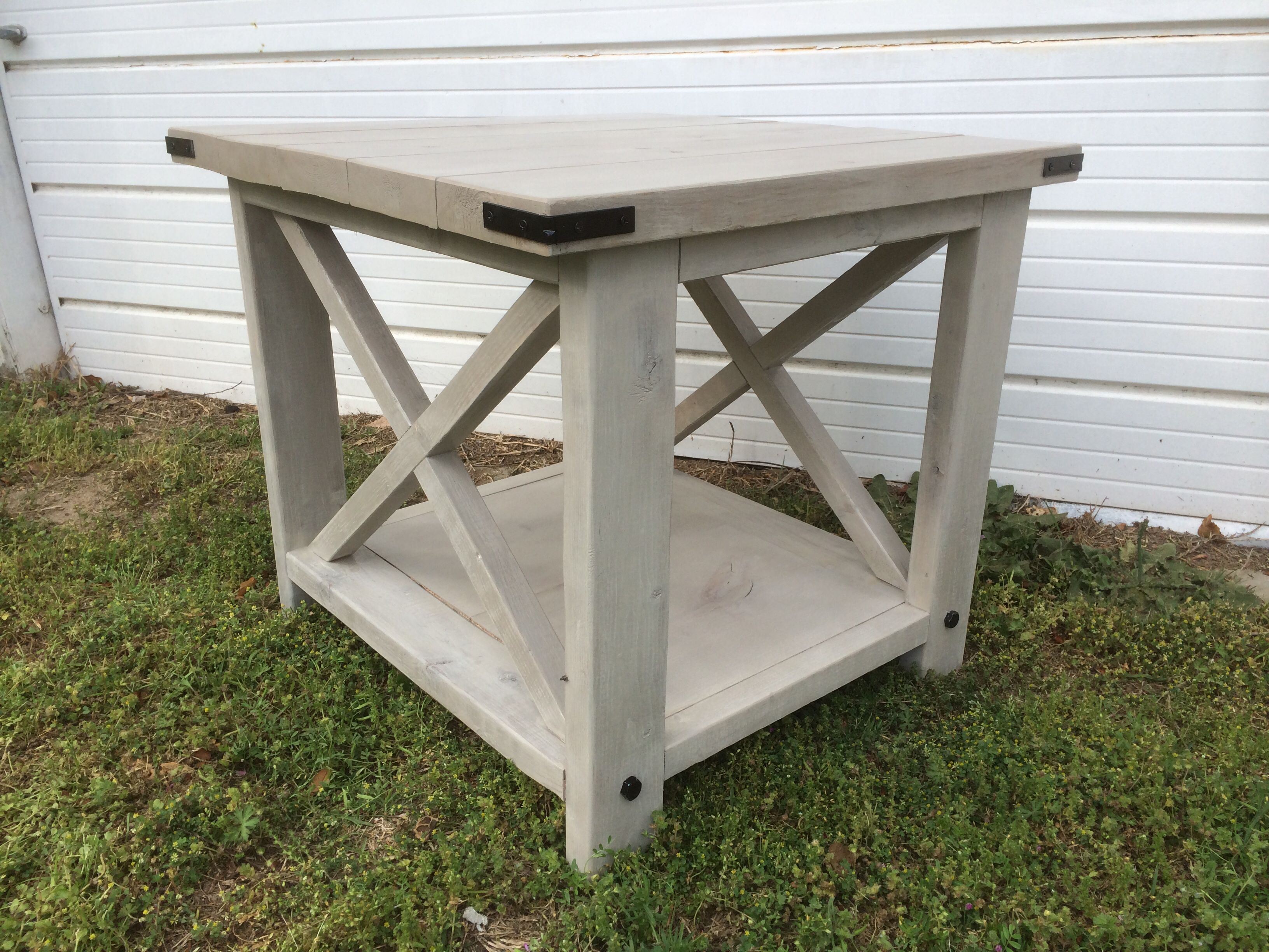 End Table Rustic X Barn Style Wood Pallet Furniture Barn Style Table