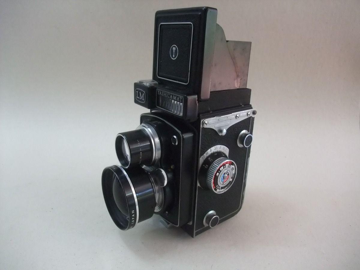 Máquina Fotográfica Câmera Antiga Yashica-mat Lm Funconando - R$ 2.000,00 no MercadoLivre