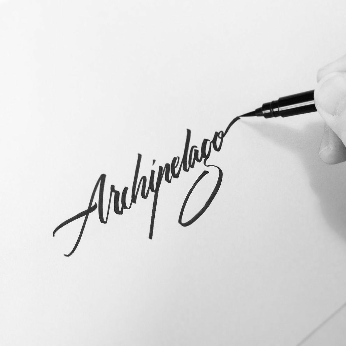 Archipelago. #makedaily #brushscript #brushpen #typographyinspired #inking #ink #lettering #handstyles #script #thedailytype #caligrafia #graffiti #showusyourtype #graphicdesign #goodtype #typedaily #typespire #thedailytype #handmadefont #art #handmade #pentelbrushpen #pentel #art