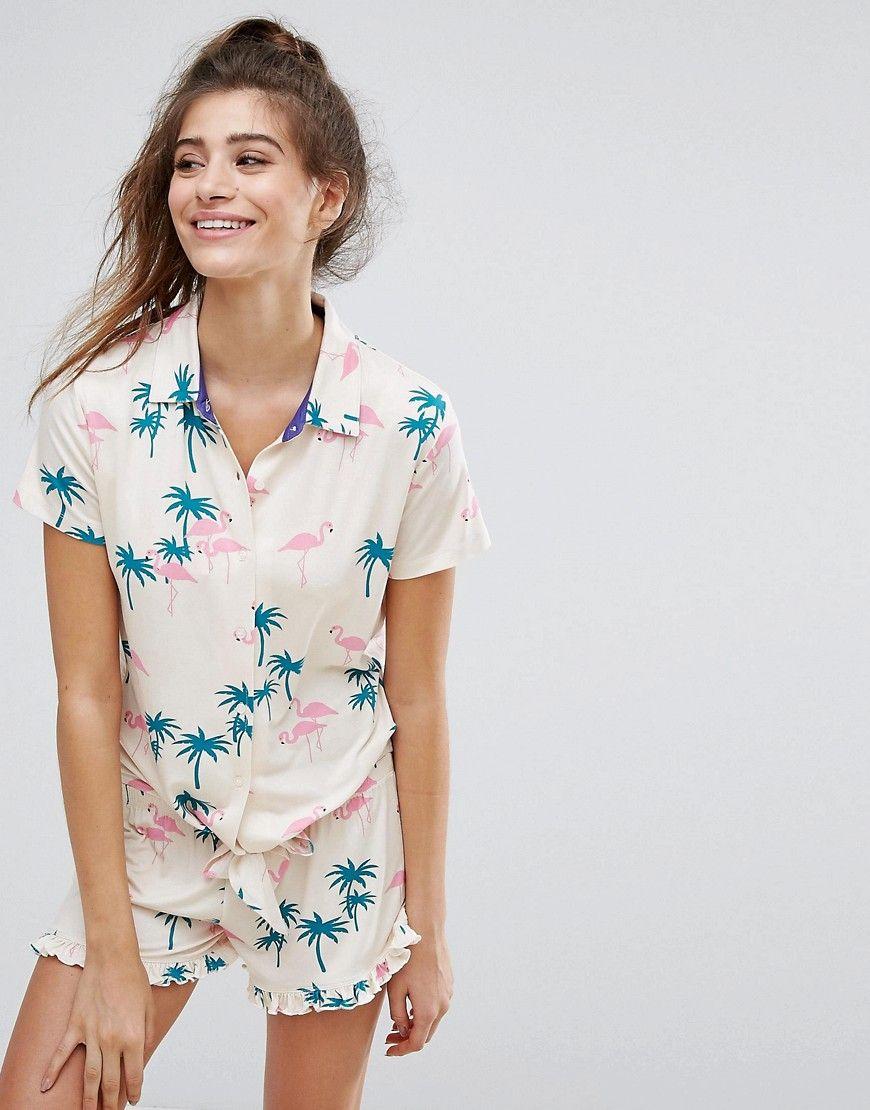 8218fa4ae4 Palm Tree Pajamas | Want It. Need It. in 2019 | Pajama set, Pajamas ...