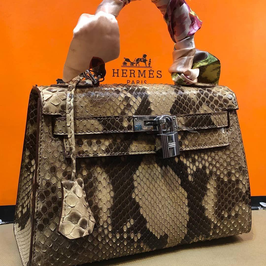 b4412ceb08c Hermes Kelly Snake Leather - Worldwide Shipping #hermes #hermesbag #handbag  #snakeskin #snakeskinbags #kelly #fashion #bagfashion…