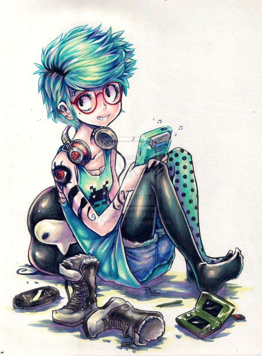 Untitled gamer girl by pyromaniac on deviantart