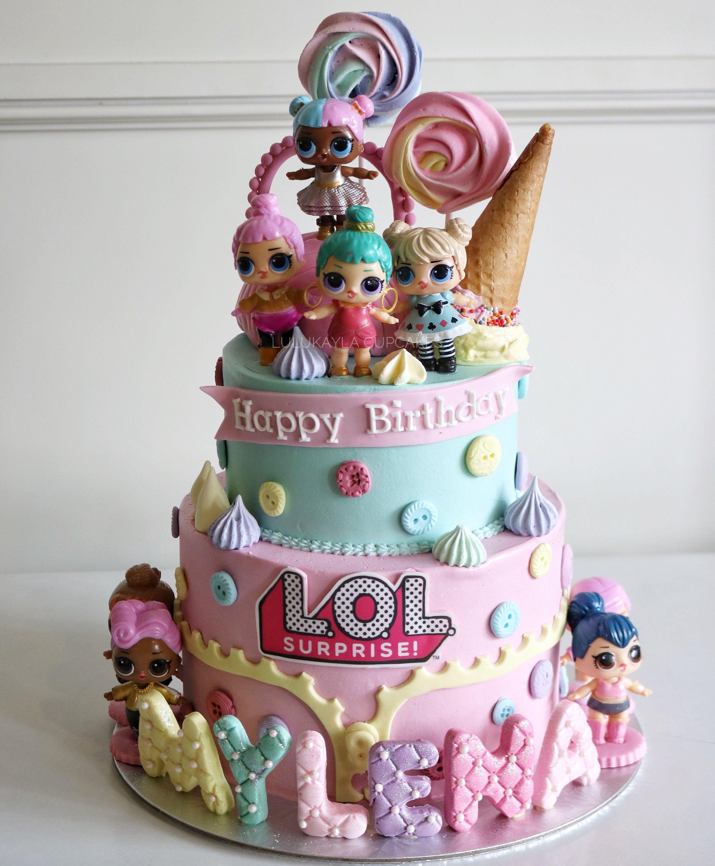 Lol Surprise Buttercream Cake Funny Birthday Cakes Doll Birthday Cake Birthday Cake Decorating