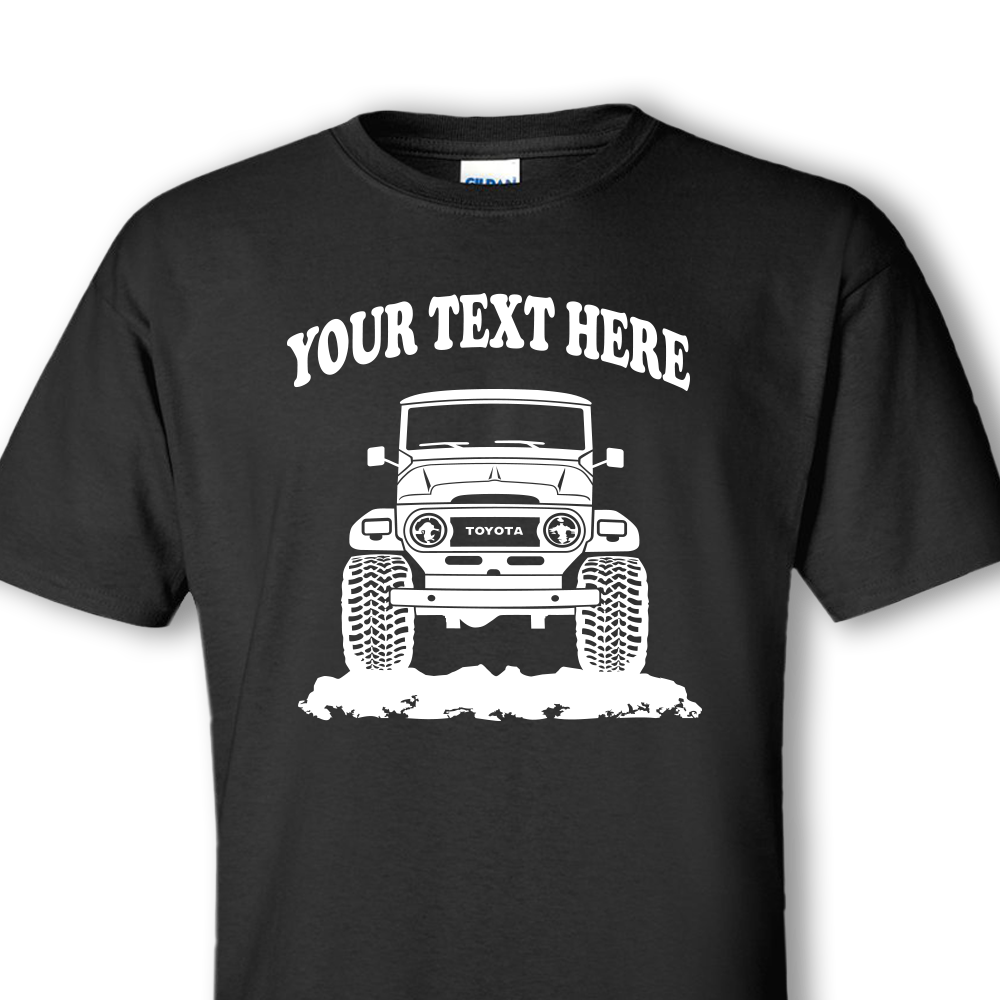 Design your own t-shirt decals - Toyota Fj40 Bj42 Land Cruiser 1960 1984 Personalized T Shirt