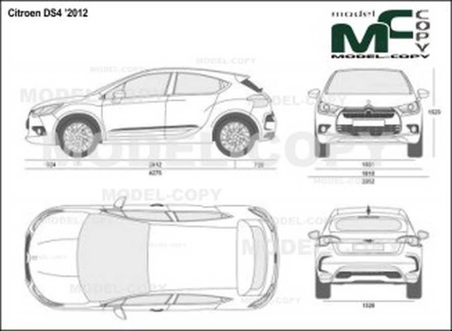 Citroen DS4 '2012 - Disegno 2D (con immagini) | Disegni ...
