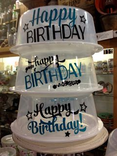 Happy Birthday Cake / Treat Carriers - TDY Designs