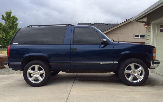 1996 Chevrolet Tahoe 4wd 2dr Bridgestone Dueler H L Alenza 275 55r20 733 Chevy Tahoe Chevrolet Tahoe Chevrolet