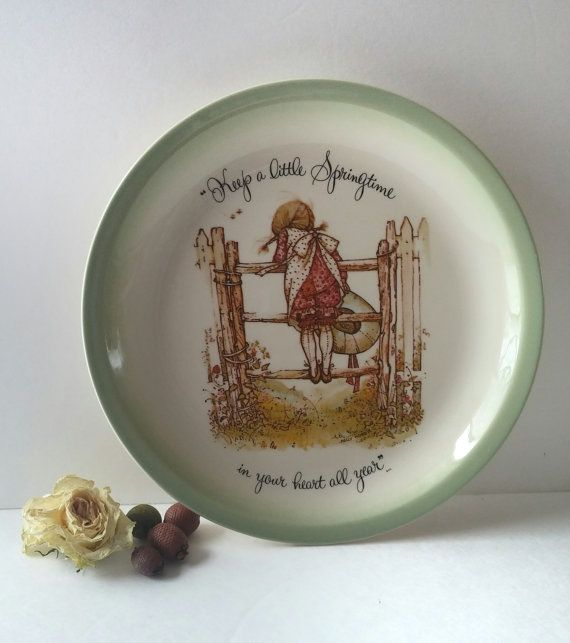 Holly Hobbie collectible plate decorative plate by JewelzAndBeyond & wall hanging plate hanging decorative plate Holly Hobbie wall ...