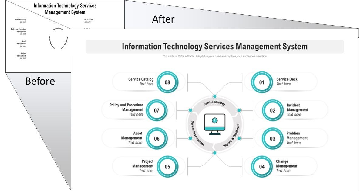 Information Technology Services Management System - PPT Template
