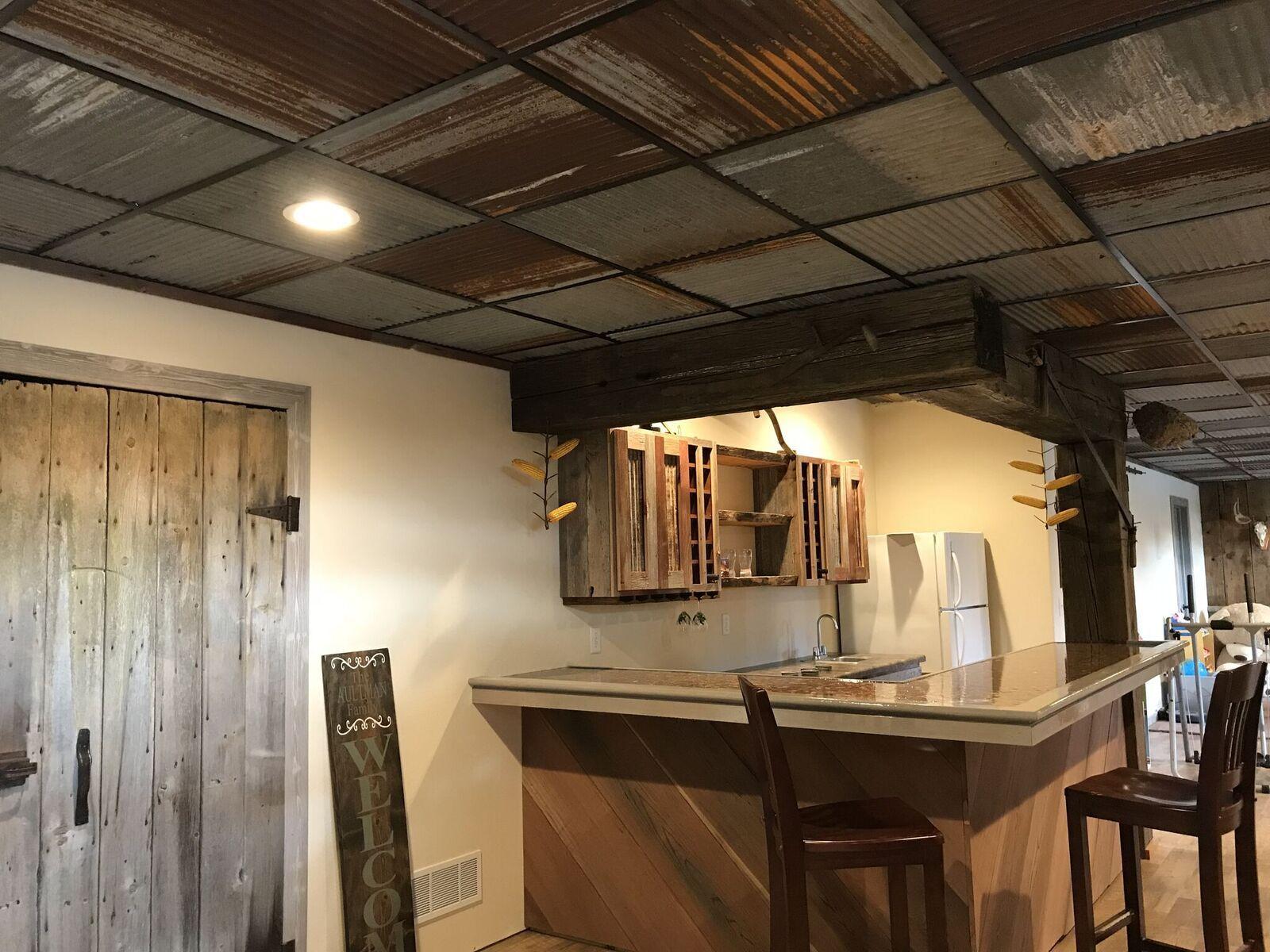 Create trendy loft look with Dakota Barn Tins. #barntin # ...