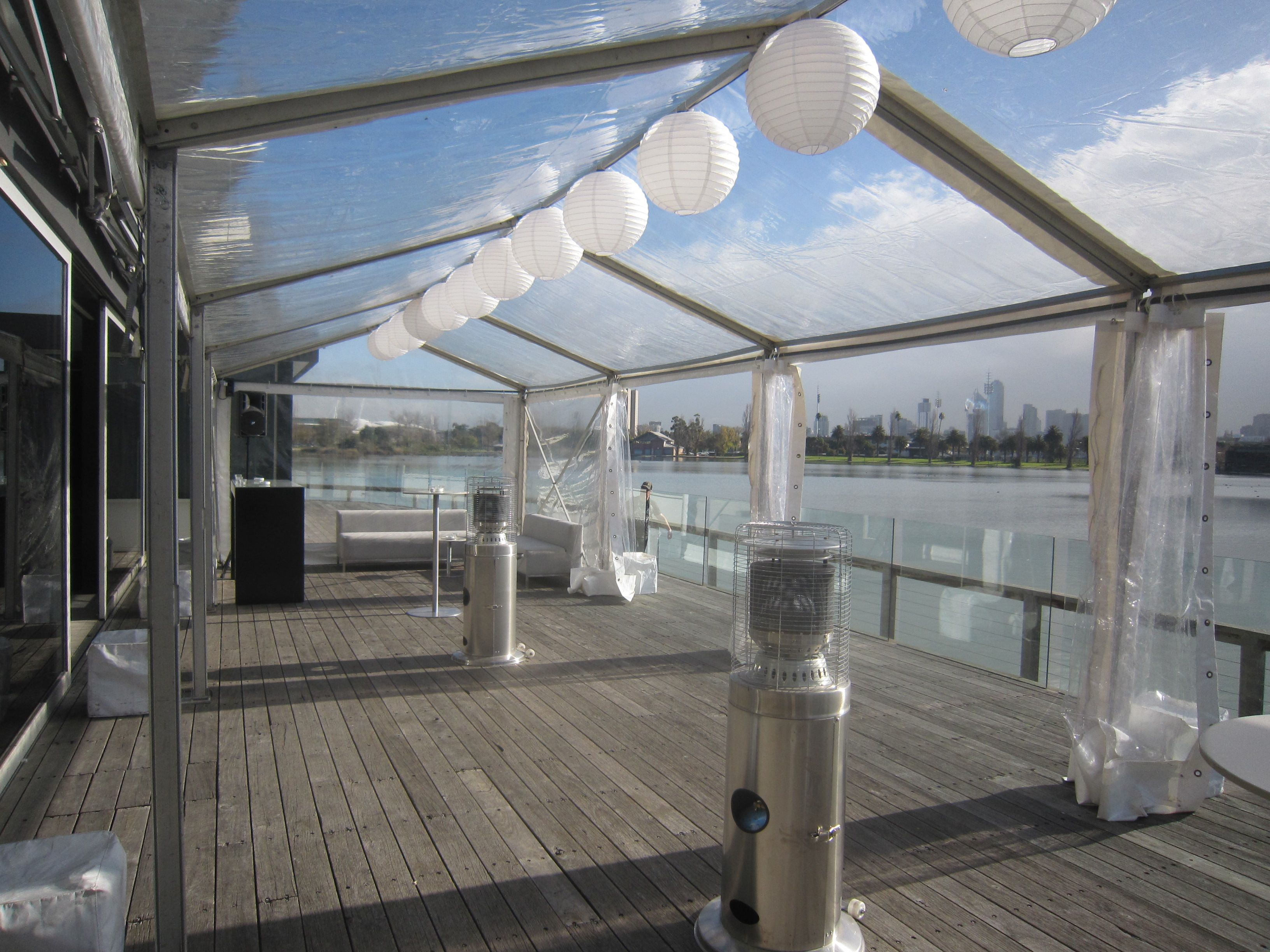 Marquee Carousel Albert Park Lake Balcony Converted With See Through Catering By Carouselwedding Venueeringbalconymelbourneoutdoor
