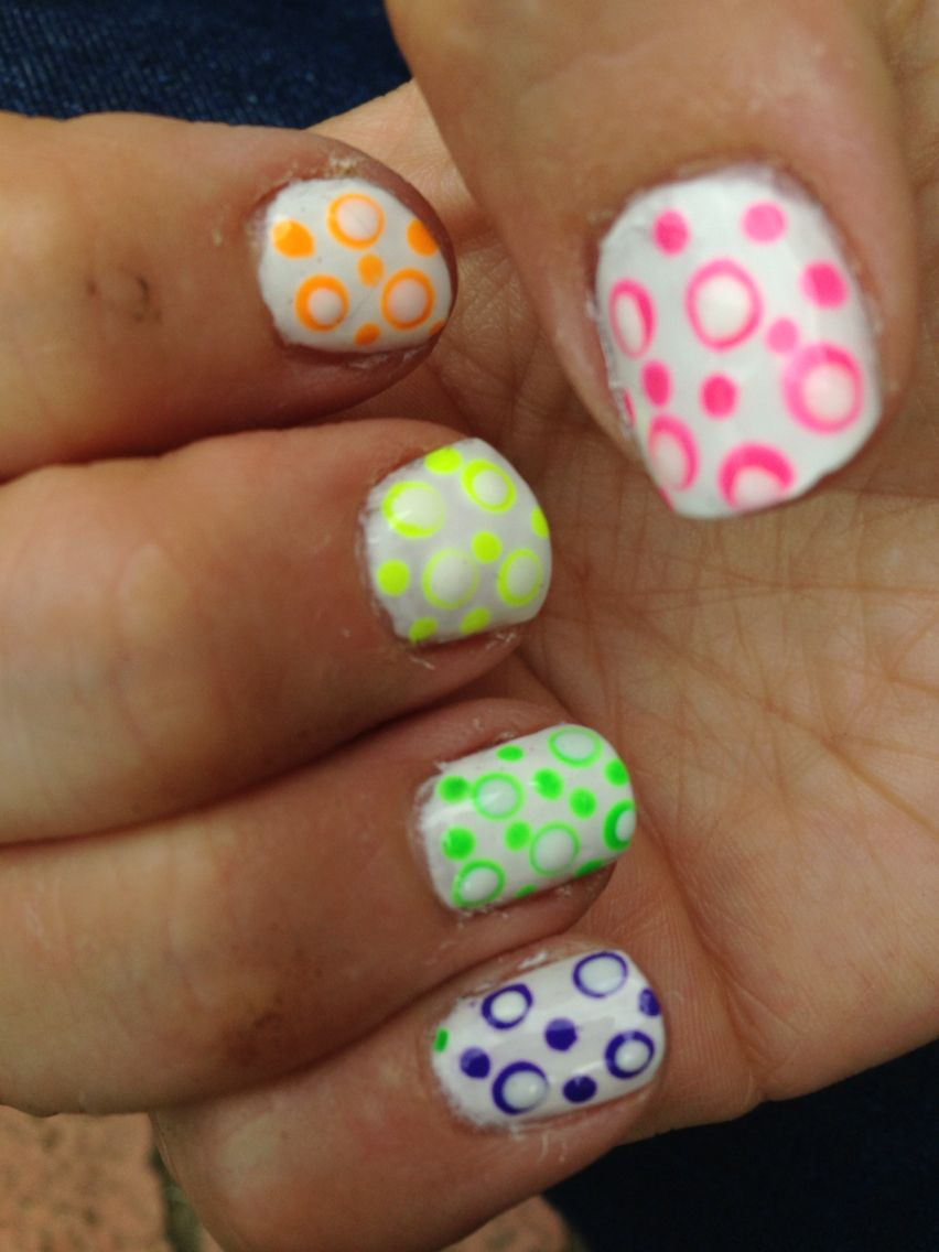 Dots within dots neon skittles. Simples challenge.