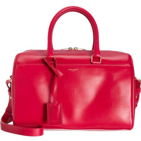 1a7eddf03806 Saint Laurent Classic Duffle 6 Bag in Fuschia Hot Pink Calfskin Leather
