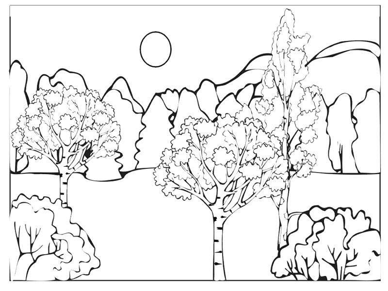 mountain landscape coloring pages - Google Search ...