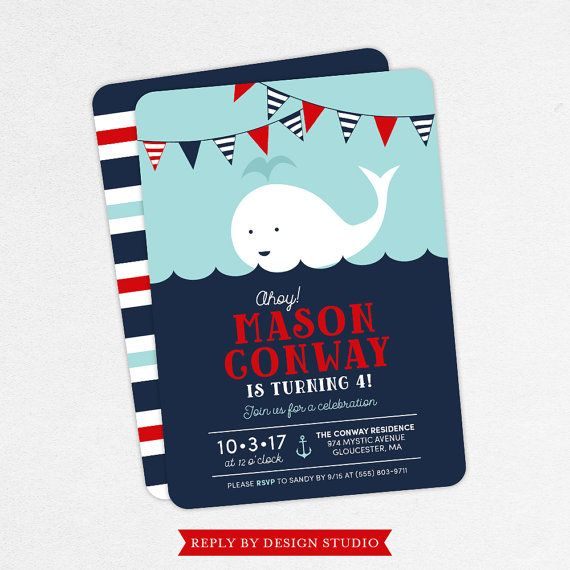 Nautical birthday invitation birthday invitation pdf printable nautical birthday invitation birthday invitation pdf printable birthday invitation printed red boy invite whale beach ocean ahoy filmwisefo Images