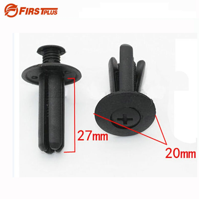 6.56$  Watch now - 100 X 8mm Plastic Auto Clips Push Bumper Fender Rivets Car Door Trim Panel Fastener Clips For Geely ck Cars Truck SUV Black    #buyonlinewebsite