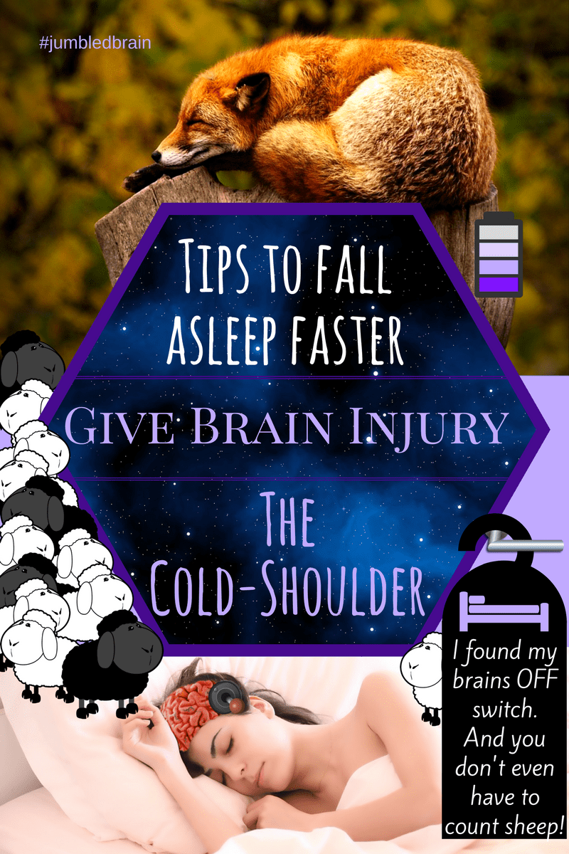 Fall asleep faster. Tips to give brain injury cold