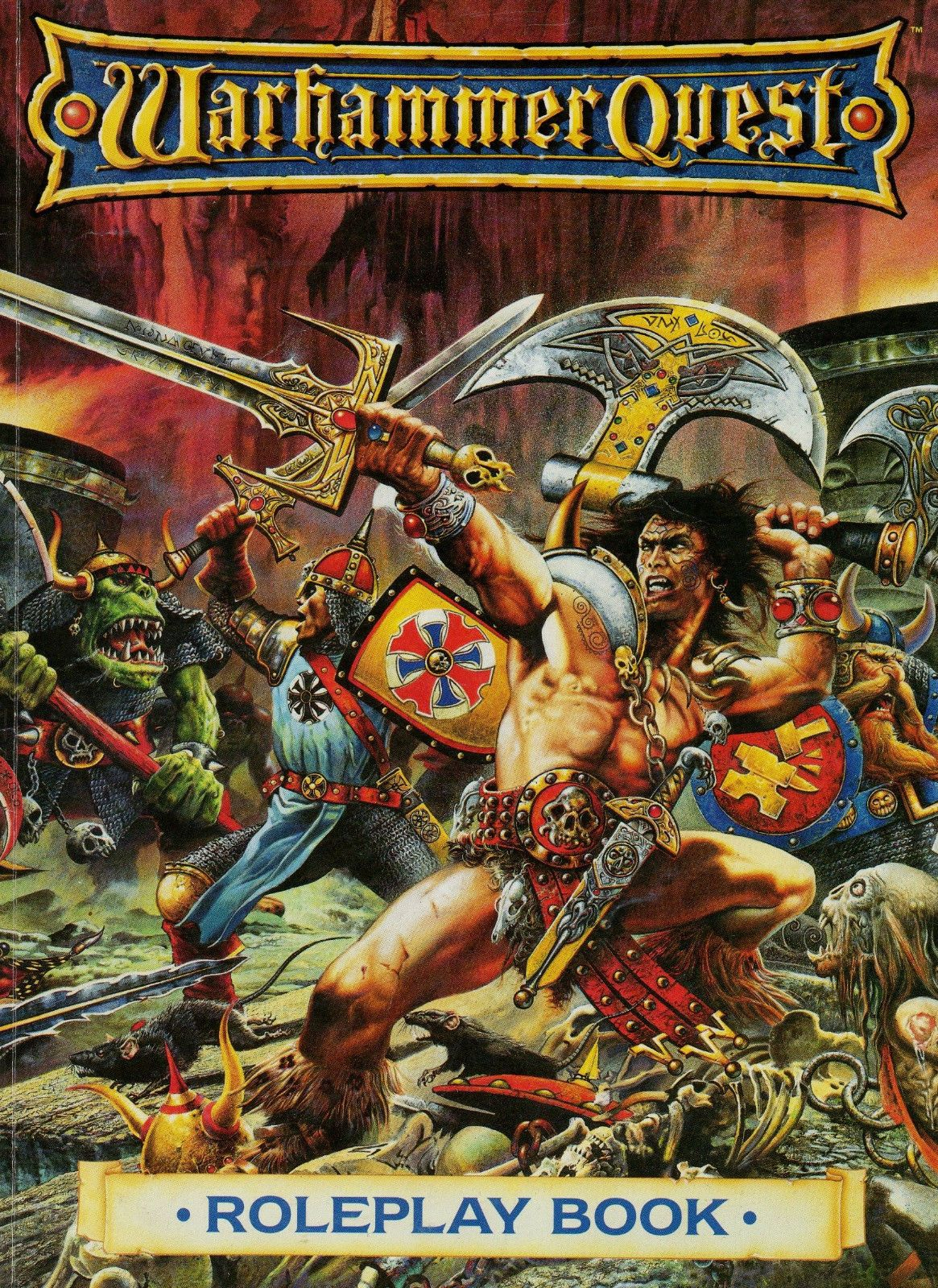 Warhammer Quest Roleplay Book 1995 Games UK Andy